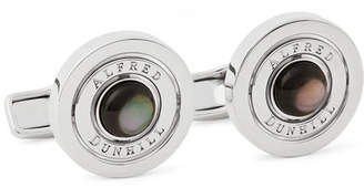 Dunhill Gyro Rhodium-Plated Mother-Of-Pearl Cufflinks - Men - Silver