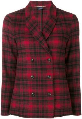 Woolrich tartan buttoned blazer