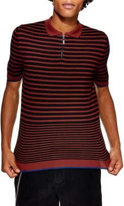 Topman Stripe Classic Fit Polo