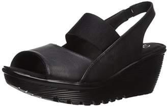 Skechers Women's Parallel-Strut Wedge Sandal