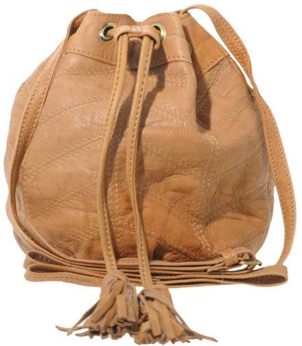 ASOS Washed Leather Panelled Mini Duffle Bag