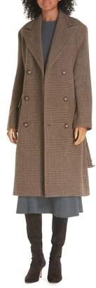 Polo Ralph Lauren Plaid Lambswool & Alpaca Belted Coat