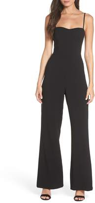 French Connection Sweetheart Whisper Flared Leg Jumpsuit