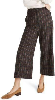 Madewell Huston Enbrook Plaid Pull-On Crop Pants