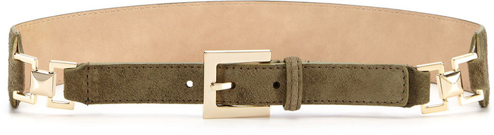 Vince Camuto Tapered Suede Panel Belt