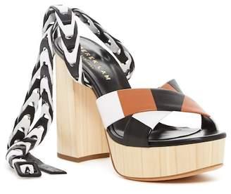 Derek Lam Frida Nappa Leather Crossover Platform Sandal