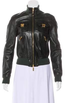 DSQUARED2 Casual Leather Jacket