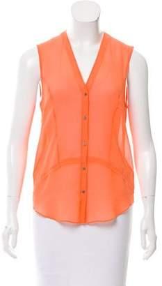 Helmut Lang HELMUT Silk Button-Up Top