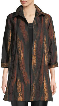 Caroline Rose Gold Rush Jacquard Topper Jacket, Plus Size