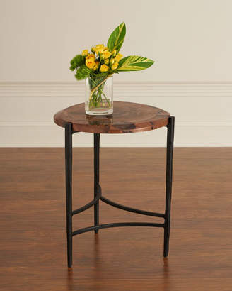 Global Views Twila Small Copper & Iron Side Table