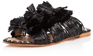 Pour La Victoire Layne Raffia Slide Sandals