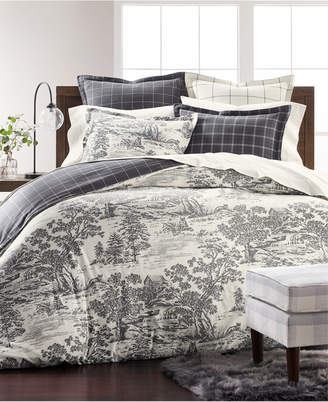 Martha Stewart Collection Fox Toile Flannel Twin Duvet Cover