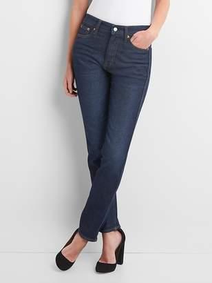 Gap High Rise Slim Straight Jeans in Dark Indigo