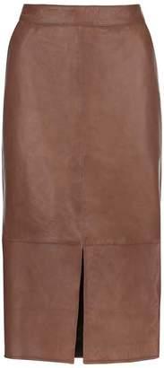 7832834c2d Mint Velvet Tan Leather Pencil Skirt