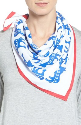 Women's Collection Xiix 'Electoral Donkey' Square Scarf $28 thestylecure.com