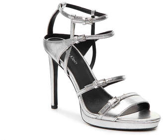 aef3a52306b Calvin Klein Silver Leather Upper Women s Sandals - ShopStyle