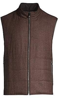 Corneliani Men's Houndstooth& Suede Reversible Vest