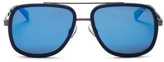 Polaroid Men's Top Bar Navigator Sunglasses, 57mm