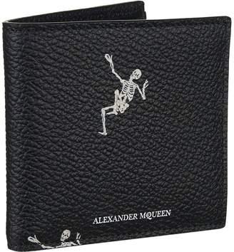 Alexander McQueen Dancing Skelton Bifold Wallet