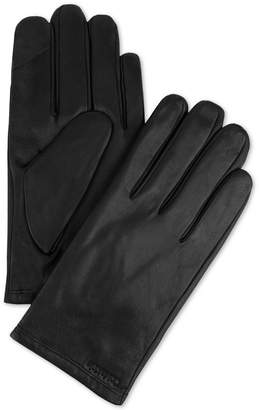Calvin Klein Men's Fleece-Lined Leather Gloves