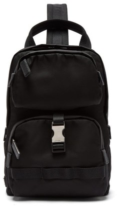 Prada Nylon Single Strap Cross Body Backpack - Mens - Black