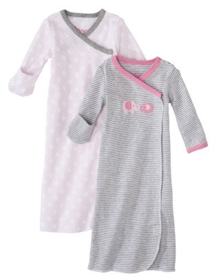 Circo Newborn Girls' 2 Pack Elephant Gown - Pink Preemie