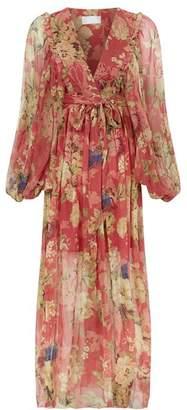 Zimmermann Melody Floral Wrap Dress