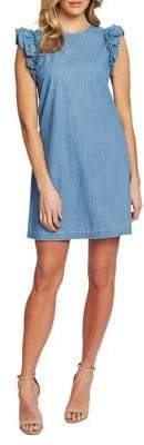 Cynthia Steffe Cece By Flutter-Sleeve Chambray Shift Dress