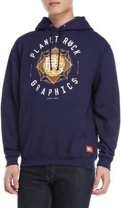 Planet Rock Graphics Logo Graphic Fleece Hoodie