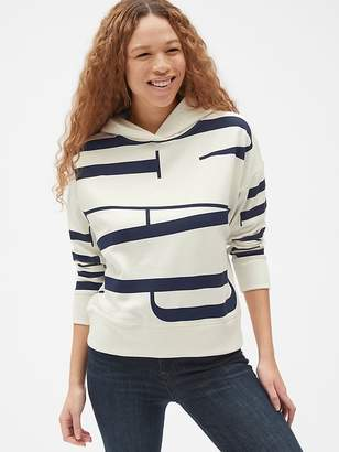 Gap Oversized Logo Pullover Hoodie in French Terry