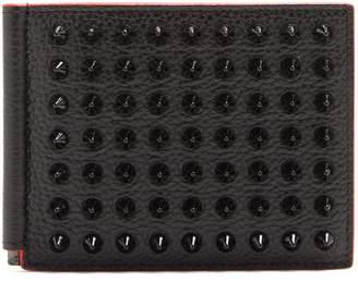 Christian Louboutin Clipsos stud-embellished leather wallet