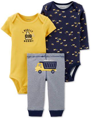Carter's Carter Baby Boys 3-Pc. Dump Trunk Graphic Cotton Bodysuits & Pants Set
