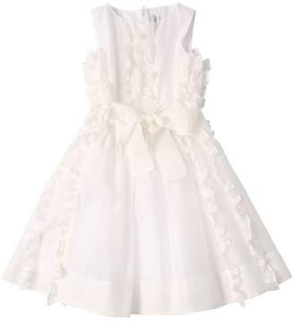 Simonetta Silk Blend Dress W/ Ruffles