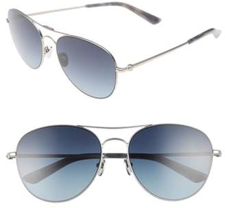 Calvin Klein 57mm Aviator Sunglasses