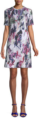 Carven Floral Printed Sheath Dress