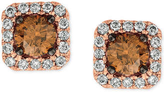 LeVian Le Vian Chocolatier Diamond (3/4 ct. t.w.) Halo Stud Earrings in 14k White Gold, Rose Gold or Yellow Gold.
