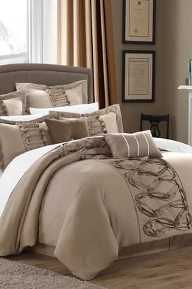 Rossana Queen Comforter Set - Taupe