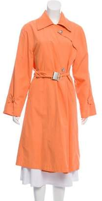 Max Mara Belted Trench Coat Orange Belted Trench Coat