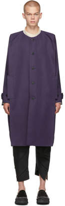 Issey Miyake 132 5. Purple Collarless Long Coat