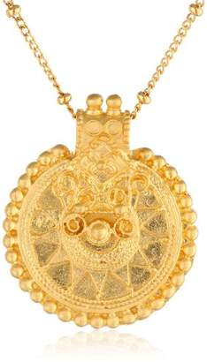Satya Jewelry Classics Long Mandala Pendant Necklace (36-Inch)