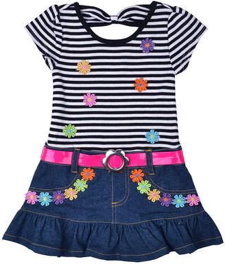 Nanette Baby Short Sleeve Drop Waist Dress - Toddler Girls