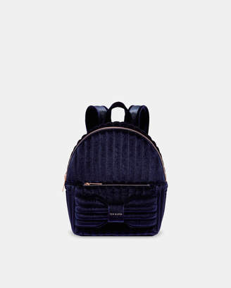 Ted Baker RIHANAI Velvet bow backpack