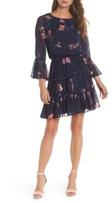Eliza J Tiered Ruffle Fit & Flare Dress