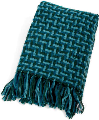 Mackenzie Childs Basketweave Throw Blanket