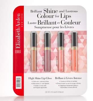 Elizabeth Arden New York High Shine Lip Gloss 6.5ml 4-Pack - Honey Glaze, Radiant Mauve, Shimmering Pink, Tropicoral