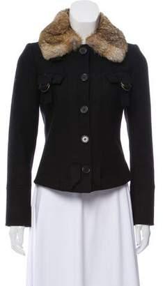 Derek Lam Fur-Trimmed Wool Jacket