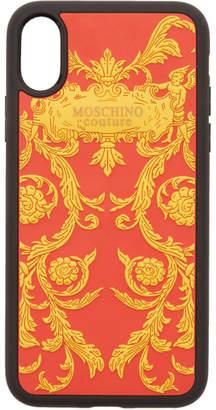 Moschino Red Logo Print iPhone XS/X Case