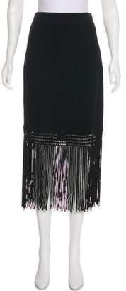 Yoana Baraschi Ribbed Fringe Skirt
