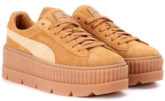 Rihanna Fenty by Cleated Creeper suede sneakers