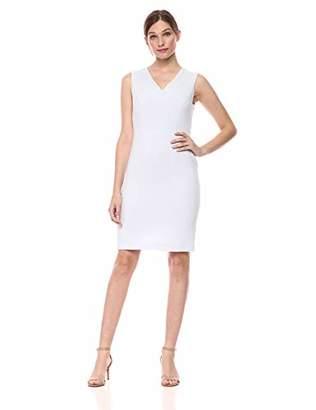 ecfca97bf8ae0 Nine West Women s Sleeveless V-Neck Crepe Dress